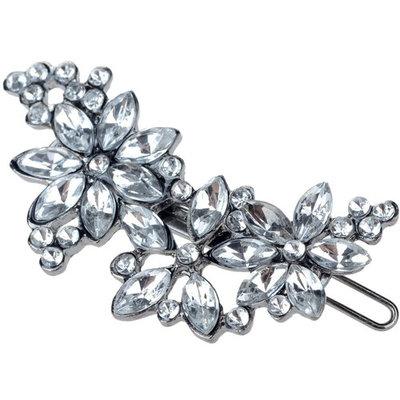 HSF Women's Rhinestone Flower Crystal Hair Clip Pin