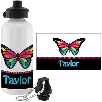 Personalized Pretty Butterfly Water Bottle
