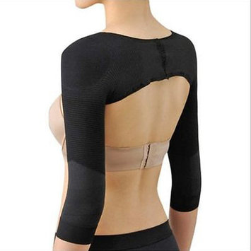 Arm Shaper for Slim Arms Shapewear Full Length Arm Tights Posture Corrector for Women Free Sleep Mask by Kaneesha (Black-SM)