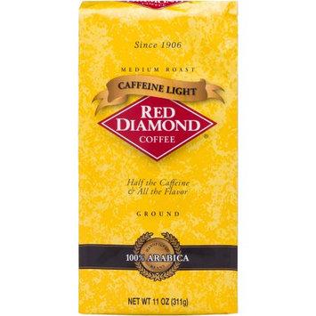Red Diamond Coffee Caffeine Light Medium Roast Ground Coffee, 11 oz