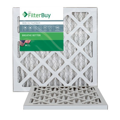 AFB Platinum MERV 13 12x15x1 Pleated AC Furnace Air Filter. Filters. 100% produced in the USA. (Pack of 2)