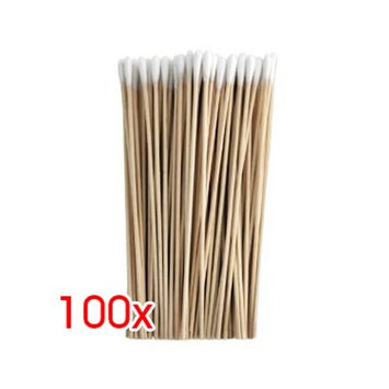 TOOGOO(R) 100 Count Six Inch Thin Wood Cotton Tipped Applicator