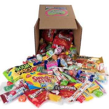 Your Favorite Party Mix Of Brand Name Candy! - 5 Pounds of Gummi Bears, Tootsie Rolls, Skittles, Lemonheads, Jaw Busters & More By Snackadilly