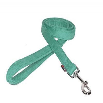 Dogline M8062-23 6 ft. L x 0. 75 W inch Comfort Microfiber Dog Leash, Teal