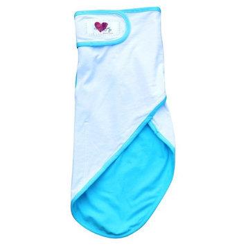 Go Mama Go Snug and Tug Swaddle Blanket in Blue - Large
