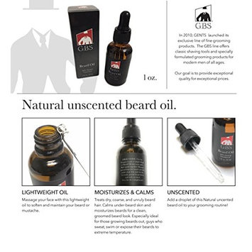 Unscented Beard Oil - GBS - 1 oz with Glass Dropper