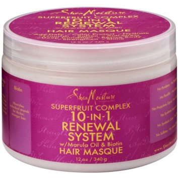 Shea Moisture 10-in-1 Renewal System Hair Masque 12 oz (Pack of 3)