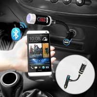 iKross Car Multifunction MP3 Bluetooth FM Transmitter with USB Port 1A for Apple iPhone 5S 5C 5 4S 4 iPad Air Mini with Retina Display & more