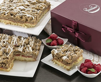 Dulcet Gift Baskets Dulcet Scrumptious Raspberry Crumb Cake- Top Gift Basket for Men and Women. U.