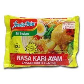 Indomie Instant Noodles Soup Chicken Curry Flavor for 1 Case (30 Bags)
