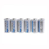 ON THE WAY®6pcs 16340 CR123A LR123A 3.7V 880mAh Rechargeable Li-Ion Battery