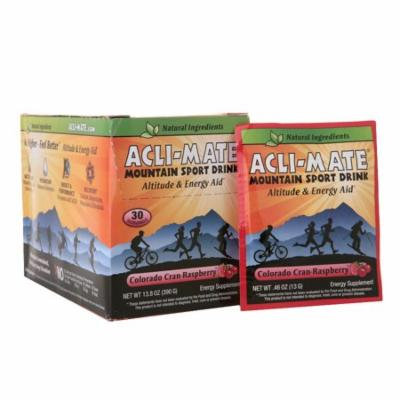 Acli-Mate Mountain Sport Drink Altitude & Energy Aid Packets Colorado Cran-Raspberry0.46 oz. x 30 pack(pack of 2)