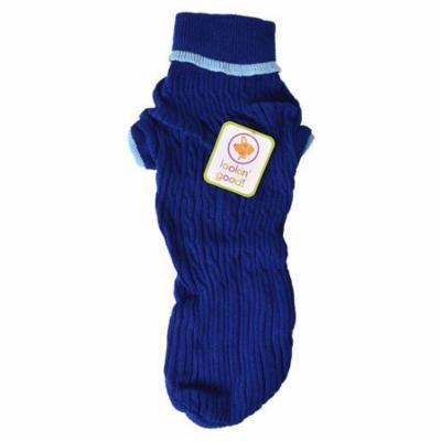 Fashion Pet Cable Knit Dog Sweater - Blue Large (19