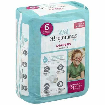 Well Beginnings Premium Diapers 621.0 ea(pack of 3)