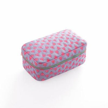 Women's Travel Portable Cosmetic Bag Folding Makeup Pouch Case Cosmetic and Toiletries Organizer (Pink&Purple)