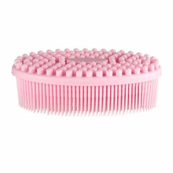 Shower Bath Brush -Pretty See Shower Massage Brush Shower Bath Body Scrubber for Both Kids and Adult, Pink