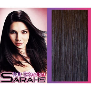 24 inch Off Black (1b). Full Head. Clip in Human Hair Extensions. High quality Remy Hair!. 120g Weight