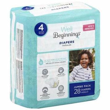 Well Beginnings Premium Diapers 4 28.0 ea(pack of 6)