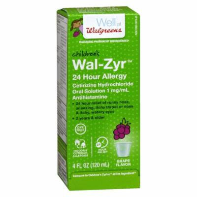 Walgreens Wal-Zyr 24 Hour Allergy Oral Solution4.0 oz.(pack of 2)