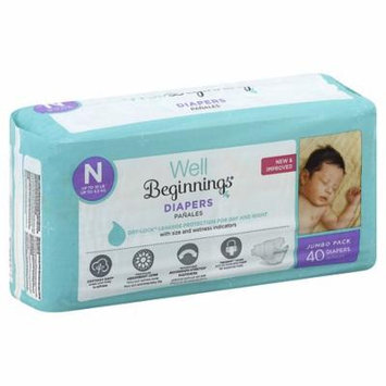 Well Beginnings Premium Diapers Newborn40.0 ea(pack of 6)