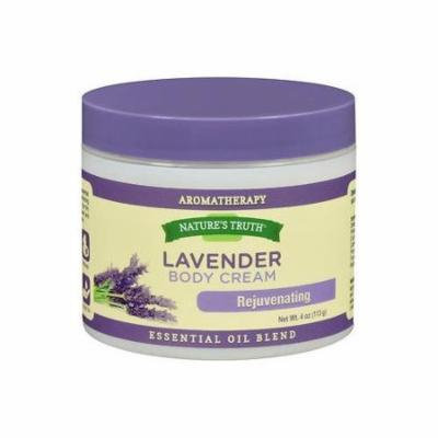 6 Pack Natures Truth Aromatherapy Lavender Rejuvenating Body Cream 4oz Each