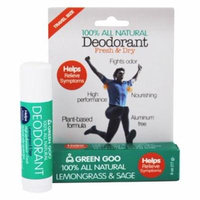 100% All Natural Deodorant Travel Stick Lemongrass & Sage - 0.6 oz. by Green Goo (pack of 3)