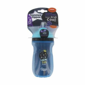 Tommee Tippee Insulated Straw Tumbler - 9 Ounce - Blue - Moon Rule The World