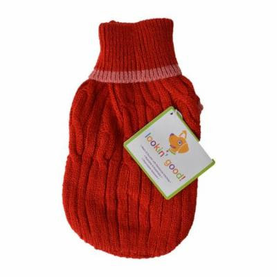Fashion Pet Cable Knit Dog Sweater - Red X-Small (8