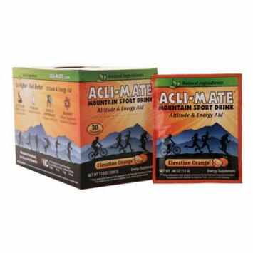 Acli-Mate Mountain Sport Drink Altitude & Energy Aid Packets Elevation Orange0.46 oz. x 30 pack(pack of 4)