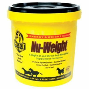 10 LB Nu-Weight High Fat 65% Fat & Energy Source For Horses