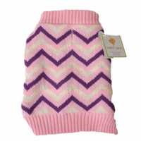 Lookin' Good Chevron Dog Sweater - Pink Small (Dogs 10