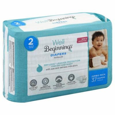 Well Beginnings Premium Diapers Size 237.0 ea(pack of 12)