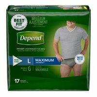 Depend Fit-Flex Underwear for Men Large Maximum Absorbency - (Pack of 6)