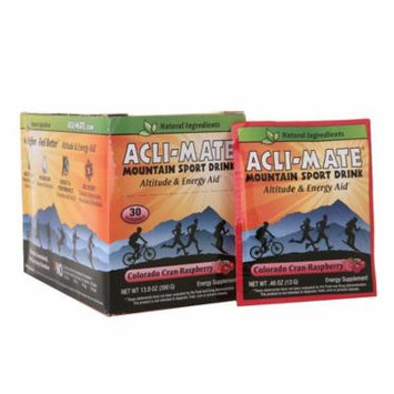 Acli-Mate Mountain Sport Drink Altitude & Energy Aid Packets Colorado Cran-Raspberry0.46 oz. x 30 pack(pack of 4)