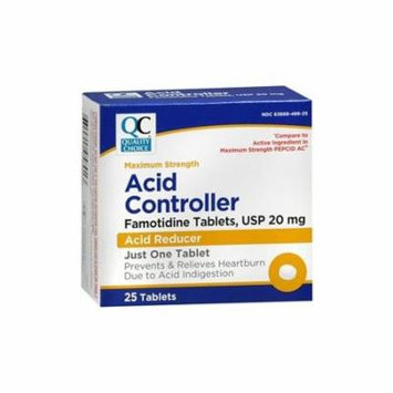 5 Pack Quality Choice Acid Controller Max Strength 25 Tablets Each
