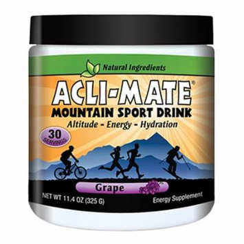Acli-Mate Mountain Sport Drink Altitude & Energy Aid Grape13.8 oz(pack of 2)