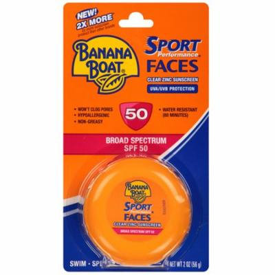 Banana Boat Faces Clear Zinc Jar, SPF 502.0 oz.(pack of 1)