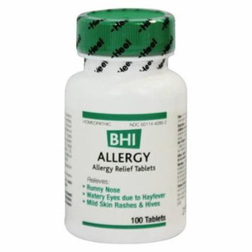 BHI - Allergy 100 Tabs Helps with Runny Nose Watery Eyes 1001012 Exp.10.18 IHI