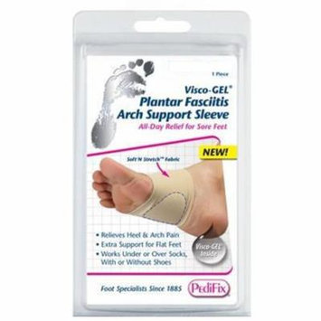 2 Pack Pedifix Plantar Visco-Gel Sleeve Arch Support Large/Xlarge 1 Count Each