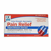 4 Pack Quality Choice Extra Strength Non-Aspirin Rapid Release Pain Relief 50 Ea