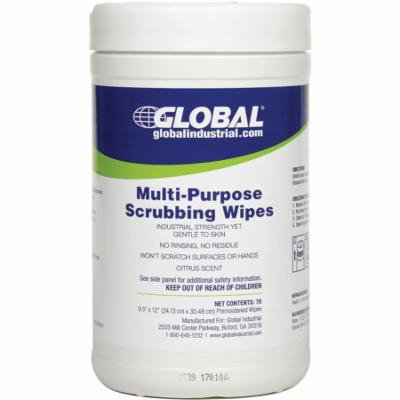 Multi-Purpose Scrubbing Wipes, 70 Wipes/Canister, 6 Canisters/Case, Lot of 1