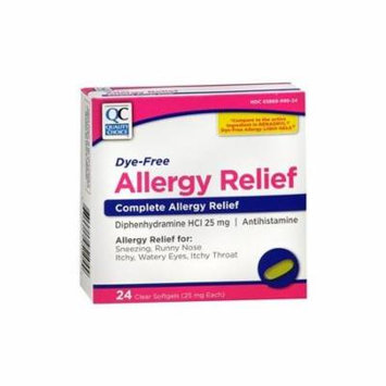 5 Pack Quality Choice Allergy Relief Compare To Benadryl 24 Tablets Each