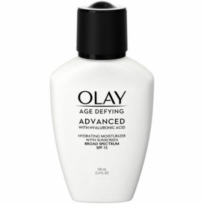 Olay Age Defying ADVANCED with Hyaluronic Acid Hydrating Moisturizer with SPF 15, 100mL (Pack of 12)