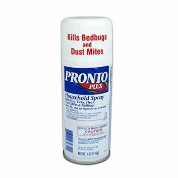 4 Pack PRONTO PLUS Household Spray Kills Ticks Fleas Dust Mites Bedbugs 5oz Each