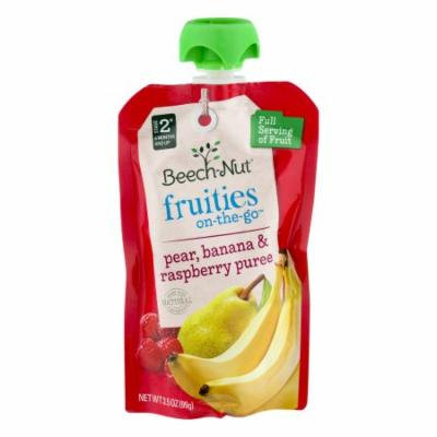 Beech-Nut Fruities On-The-Go Stage 2 Pear, Banana & Raspberry Puree, 3.5 OZ (Pack of 12)