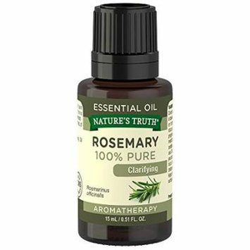 3 Pack Natures Truth 100% Pure Essential Oil Rosemary 0.51oz Each