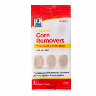 5 Pack Quality Choice Medicated Corn Removers 9 Pads Each
