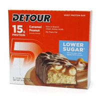 Detour 15g Whey Protein Bar, Lower Sugar Caramel Peanut1.5 oz. x 9 pack(pack of 1)