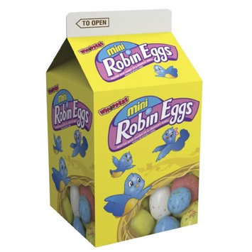 WHOPPERS Mini ROBIN EGGS Candy (Malted Milk Candy in a Crunchy Shell), 4 Ounce Carton (Pack of 15)