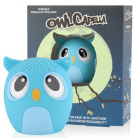 My Audio Pet (TWS) Mini Bluetooth Animal Wireless Speaker with TRUE WIRELESS STEREO TECHNOLOGY _ Pair with another TWS Pet for Powerful Rich Room-filling Sound _ (OWLcapella Blue)